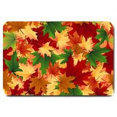Autumn Leaves Large Doormat  by Simbadda