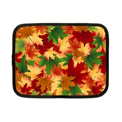 Autumn Leaves Netbook Case (small)  by Simbadda