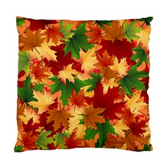 Autumn Leaves Standard Cushion Case (two Sides) by Simbadda