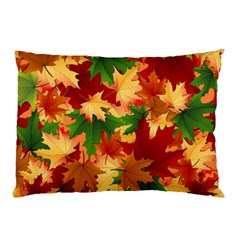 Autumn Leaves Pillow Case by Simbadda