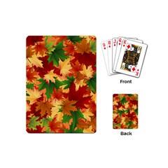 Autumn Leaves Playing Cards (mini)  by Simbadda