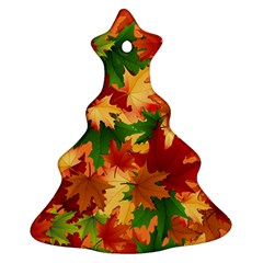 Autumn Leaves Ornament (christmas Tree)  by Simbadda