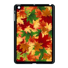 Autumn Leaves Apple Ipad Mini Case (black) by Simbadda