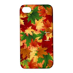 Autumn Leaves Apple Iphone 4/4s Hardshell Case With Stand by Simbadda