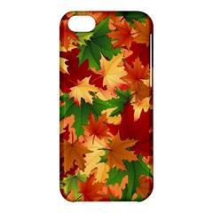 Autumn Leaves Apple Iphone 5c Hardshell Case by Simbadda