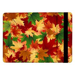 Autumn Leaves Samsung Galaxy Tab Pro 12 2  Flip Case by Simbadda