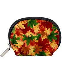 Autumn Leaves Accessory Pouches (small)  by Simbadda