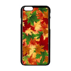 Autumn Leaves Apple Iphone 6/6s Black Enamel Case by Simbadda