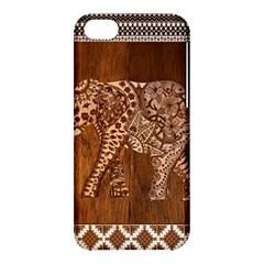 Elephant Aztec Wood Tekture Apple Iphone 5c Hardshell Case by Simbadda