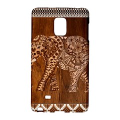 Elephant Aztec Wood Tekture Galaxy Note Edge by Simbadda