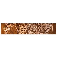 Elephant Aztec Wood Tekture Flano Scarf (small) by Simbadda