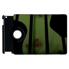 Fractal Prison Apple Ipad 3/4 Flip 360 Case by Simbadda