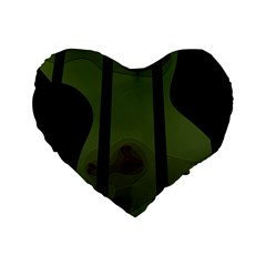 Fractal Prison Standard 16  Premium Flano Heart Shape Cushions by Simbadda
