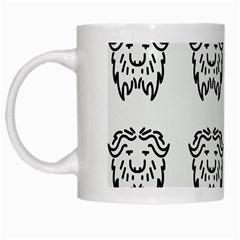 Animal Bison Grey Wild White Mugs by Alisyart