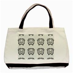 Animal Bison Grey Wild Basic Tote Bag by Alisyart