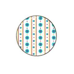 Beans Flower Floral Blue Hat Clip Ball Marker (4 Pack) by Alisyart