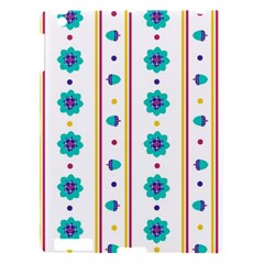 Beans Flower Floral Blue Apple Ipad 3/4 Hardshell Case by Alisyart