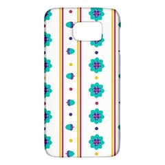 Beans Flower Floral Blue Galaxy S6 by Alisyart