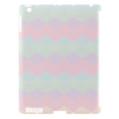 Argyle Triangle Plaid Blue Pink Red Blue Orange Apple Ipad 3/4 Hardshell Case (compatible With Smart Cover) by Alisyart
