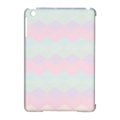 Argyle Triangle Plaid Blue Pink Red Blue Orange Apple Ipad Mini Hardshell Case (compatible With Smart Cover) by Alisyart