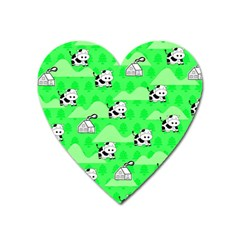 Animals Cow Home Sweet Tree Green Heart Magnet by Alisyart