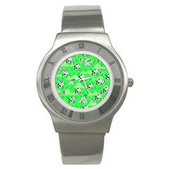 Animals Cow Home Sweet Tree Green Stainless Steel Watch by Alisyart