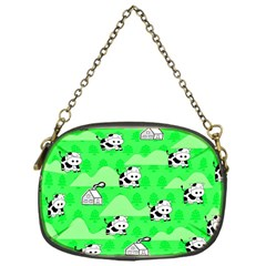 Animals Cow Home Sweet Tree Green Chain Purses (one Side)  by Alisyart