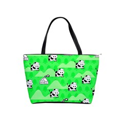 Animals Cow Home Sweet Tree Green Shoulder Handbags by Alisyart