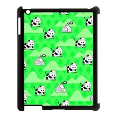 Animals Cow Home Sweet Tree Green Apple Ipad 3/4 Case (black) by Alisyart