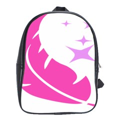 Bird Feathers Star Pink School Bags (xl)  by Alisyart