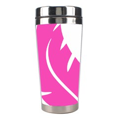 Bird Feathers Star Pink Stainless Steel Travel Tumblers by Alisyart