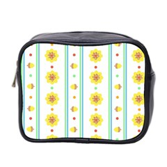 Beans Flower Floral Yellow Mini Toiletries Bag 2 Side by Alisyart