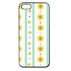 Beans Flower Floral Yellow Apple Iphone 5 Seamless Case (black) by Alisyart