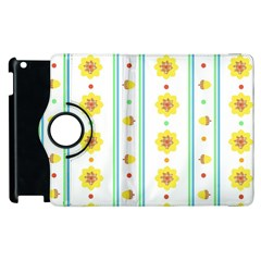 Beans Flower Floral Yellow Apple Ipad 2 Flip 360 Case by Alisyart