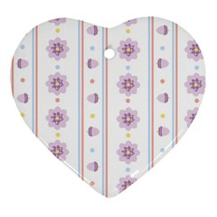Beans Flower Floral Purple Heart Ornament (two Sides) by Alisyart