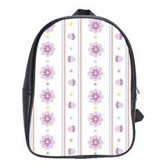 Beans Flower Floral Purple School Bags (xl)  by Alisyart