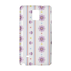 Beans Flower Floral Purple Samsung Galaxy Note 4 Hardshell Case by Alisyart