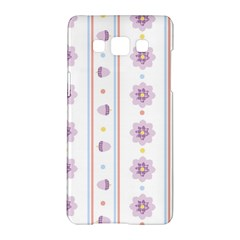 Beans Flower Floral Purple Samsung Galaxy A5 Hardshell Case  by Alisyart