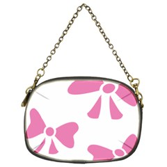 Bow Ties Pink Chain Purses (two Sides)  by Alisyart