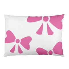 Bow Ties Pink Pillow Case by Alisyart