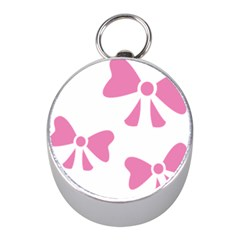 Bow Ties Pink Mini Silver Compasses by Alisyart