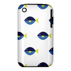 Blue Fish Swim Yellow Sea Beach Iphone 3s/3gs
