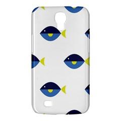 Blue Fish Swim Yellow Sea Beach Samsung Galaxy Mega 6 3  I9200 Hardshell Case by Alisyart