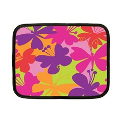 Butterfly Animals Rainbow Color Purple Pink Green Yellow Netbook Case (small)  by Alisyart