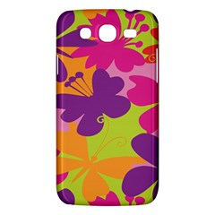 Butterfly Animals Rainbow Color Purple Pink Green Yellow Samsung Galaxy Mega 5 8 I9152 Hardshell Case  by Alisyart
