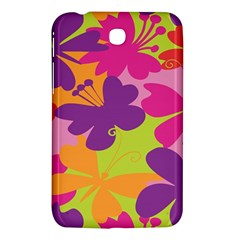 Butterfly Animals Rainbow Color Purple Pink Green Yellow Samsung Galaxy Tab 3 (7 ) P3200 Hardshell Case  by Alisyart