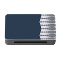Argyle Triangle Plaid Blue Grey Memory Card Reader With Cf by Alisyart