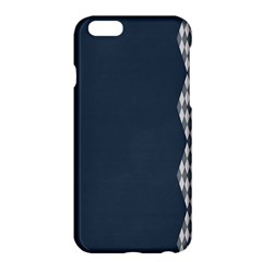 Argyle Triangle Plaid Blue Grey Apple Iphone 6 Plus/6s Plus Hardshell Case by Alisyart
