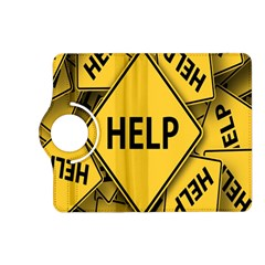 Caution Road Sign Help Cross Yellow Kindle Fire Hd (2013) Flip 360 Case by Alisyart