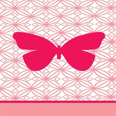 Butterfly Animals Pink Plaid Triangle Circle Flower Magic Photo Cubes by Alisyart